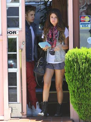 Selena Gomez enjoying a popsicle in Van Nuys on June 30, 2012