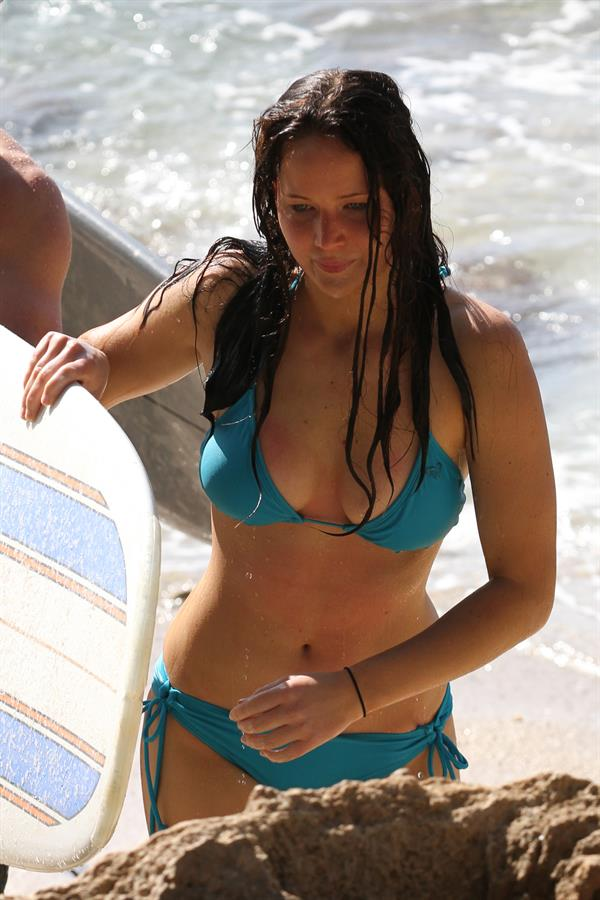 Jennifer Lawrence in bikini in Maui
