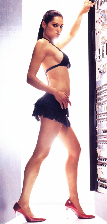 Morgan Webb in a bikini