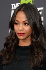 Zoe Saldana attends MTV Movie Awards at Sony Pictures Studios in Culver City - April 14, 2013