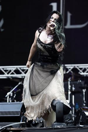 Amy Lee - Evanescence perform at the 2012 Heineken Jammin festival on July 6, 2012