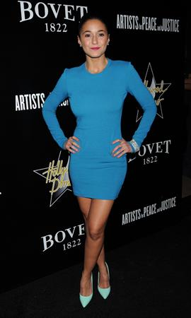 Emmanuelle Chriqui Hollywood Domino And Bovet 1822 Gala Benefiting Artists For Peace And Justice - Feb 21, 2013