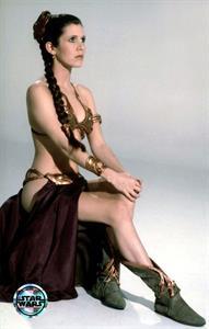 Carrie Fisher in a bikini