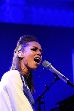 Alicia Keys celebrating the release of her new album the Element of Freedom at Aqua in London