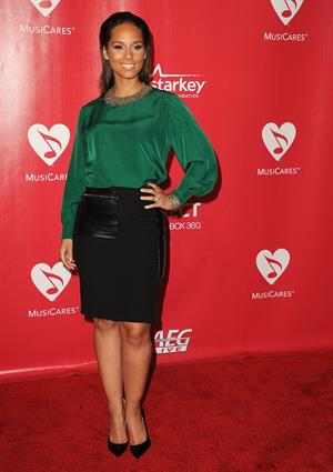 Alicia Keys 2012 Musicares Person of the Year Gala in Los Angeles on February 10, 2012