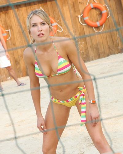 Sarah Carter in a bikini