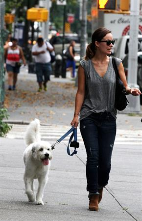 Olivia Wilde walking her dog in New York City - July 22, 2013