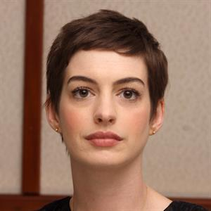 Anne Hathaway the Dark Knight Rises press conference portraits in Beverly Hills on July 8, 2012