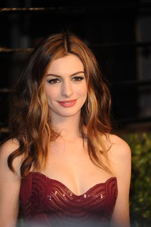 Anne Hathaway Vanity Fair Oscar Party on February 27, 2011