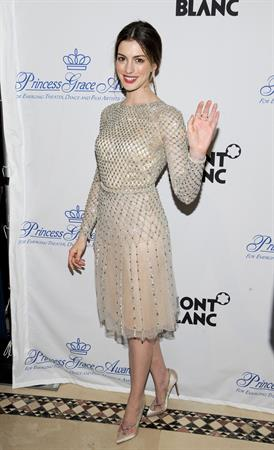 Anne Hathaway Princess Grace Awards Gala in New York City on November 1, 2011