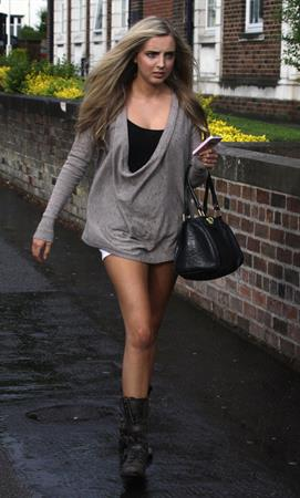 Alice Barlow Liverpool candids on May 13, 2011