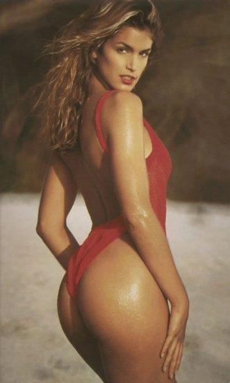 Cindy Crawford in a bikini - ass