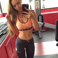 Sydney A Maler in Yoga Pants taking a selfie