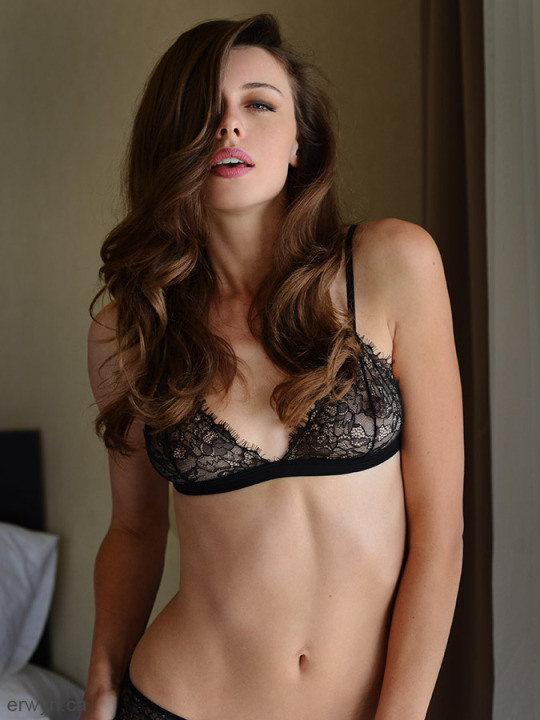 Anonymous in lingerie