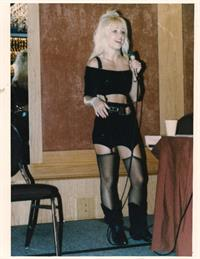 Linnea Quigley in lingerie