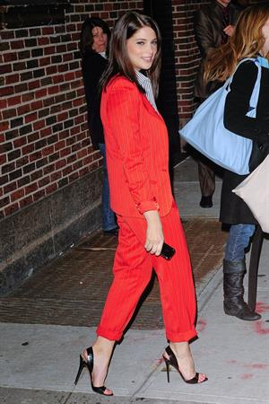 Ashley Greene visits the Late Show with David Letterman in New York City