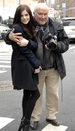 Ashley Greene on set of a photoshoot for DKNY in New York on April 1, 2012