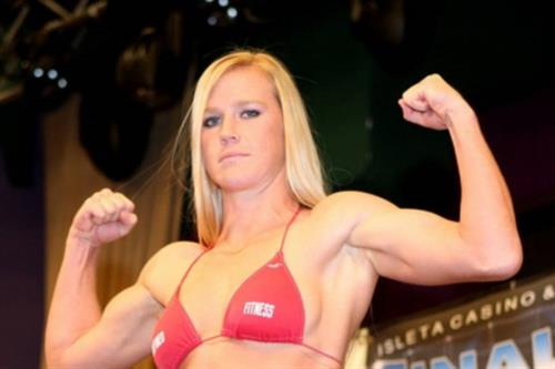 Holly Holm in a bikini
