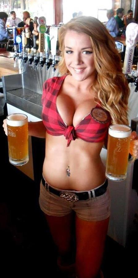 image Busty scottish brunette drinks cum from glass