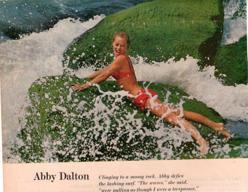 Abby Dalton in a bikini