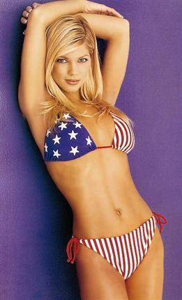Donna D'Errico in a bikini