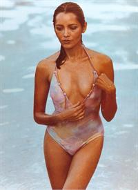 Barbara Carrera in a bikini