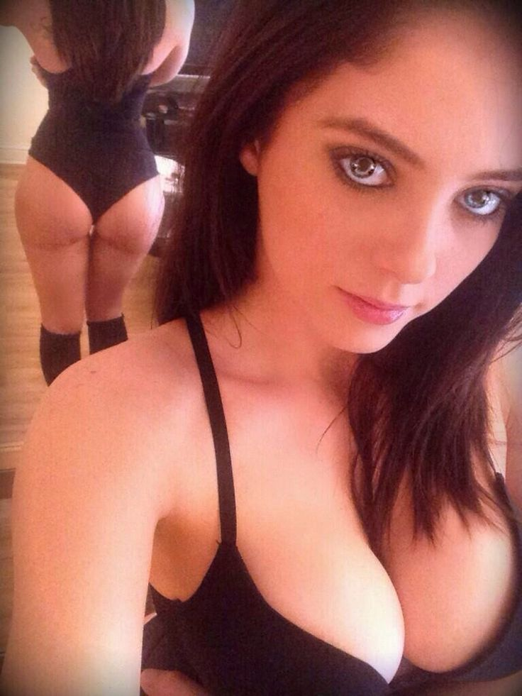 Paula Smillie in lingerie taking a selfie and - ass