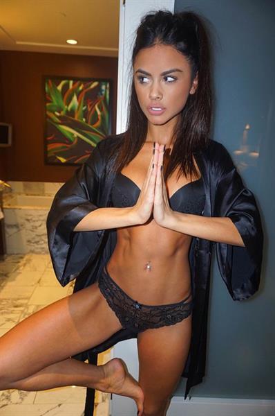 Sophia Miacova in lingerie