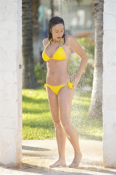 Vicky Pattinson in a bikini