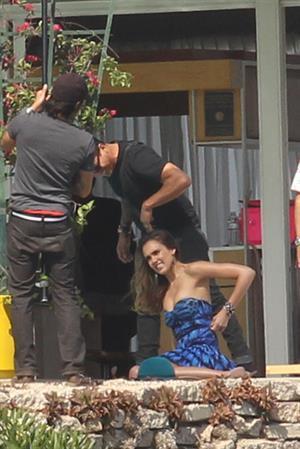 Jessica Alba posing for a magazine photoshoot on June 15, 2012