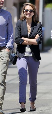 Jessica Alba outside her office Santa Monica on April 10, 2012