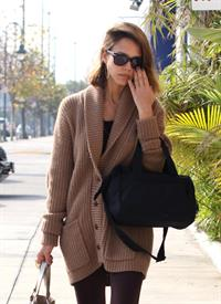 Jessica Alba out about in Los Angeles on January 7 - not sure what year