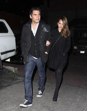 Jessica Alba out for dinner at Matsuhisa Restaurant in Beverly Hills on March 22, 2012