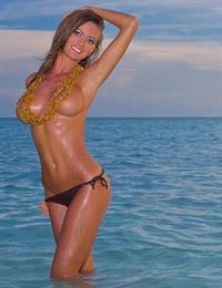 Holly Weber in a bikini