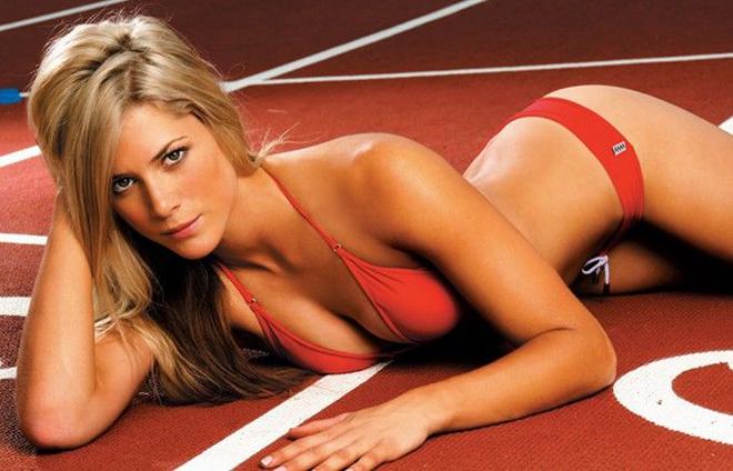 Melanie Adams in a bikini