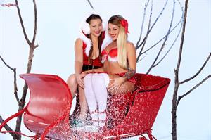 Santa's Ride.. featuring Dani Daniels, Kissa Sins   Twistys.com
