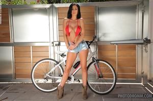 Ella Mai going for a bike ride