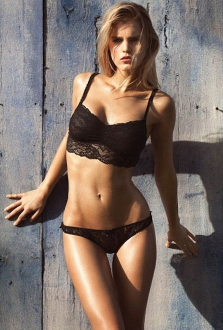 Joy Corrigan in lingerie