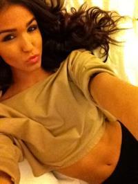 Ashley Sky taking a selfie