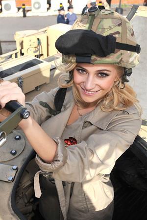 Pixie Lott at RAF Northolt in London 10/24/12