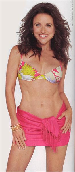 Julia Louis-Dreyfus in a bikini