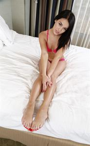 Megan Rain in lingerie