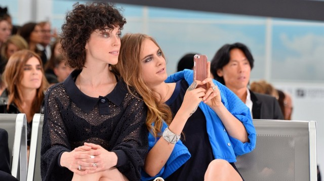 Cara Delevingne with Annie Clark