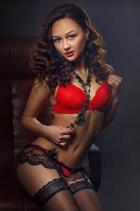 Katya Kucheryavaya in lingerie