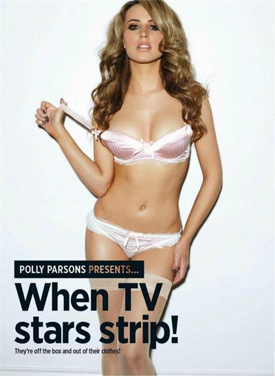 Polly Parsons in lingerie