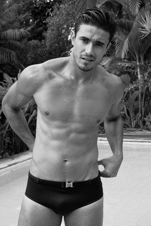 Lucas Gil in a bikini
