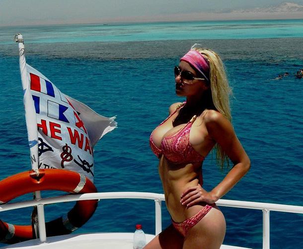 Ekaterina in a bikini