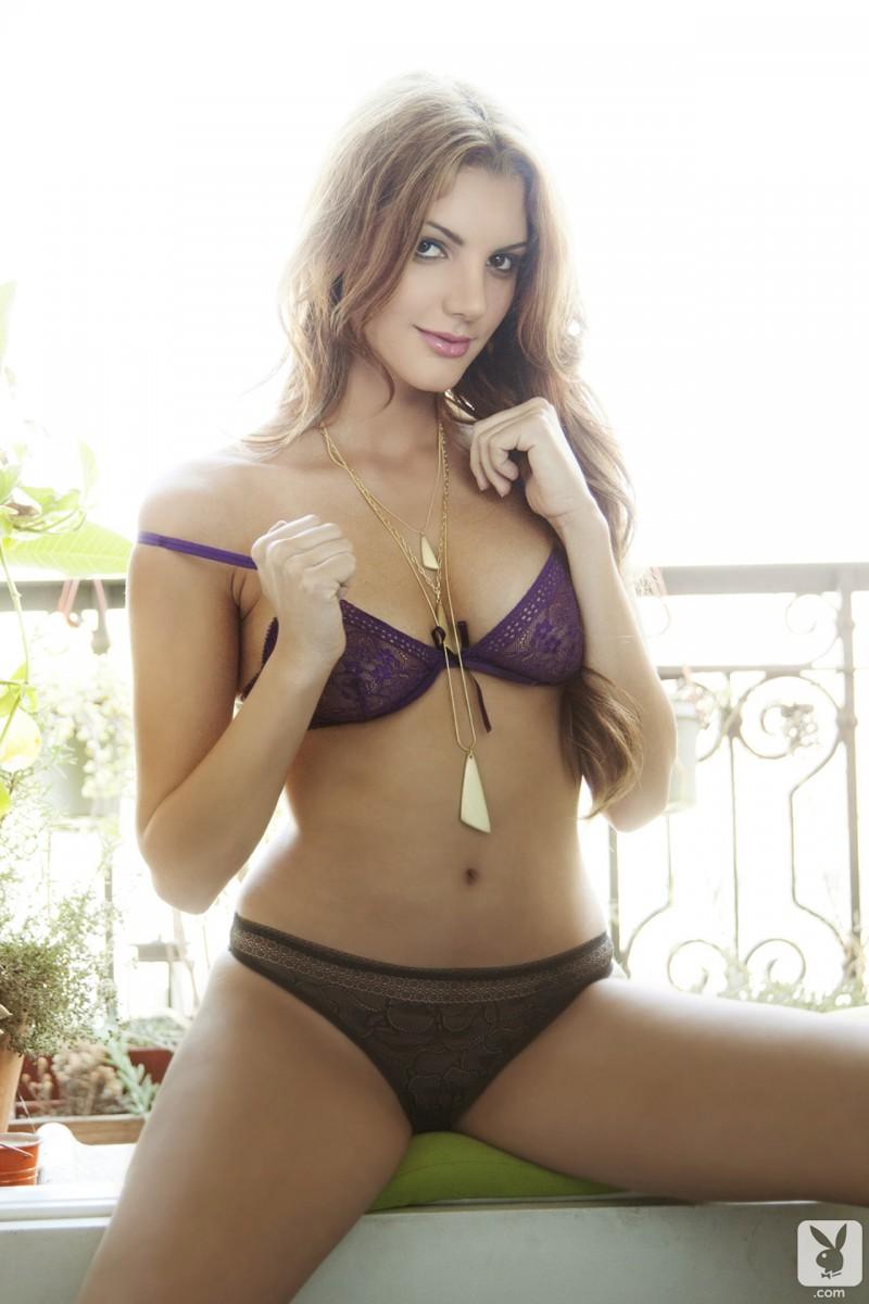 Adrianna Adams in lingerie