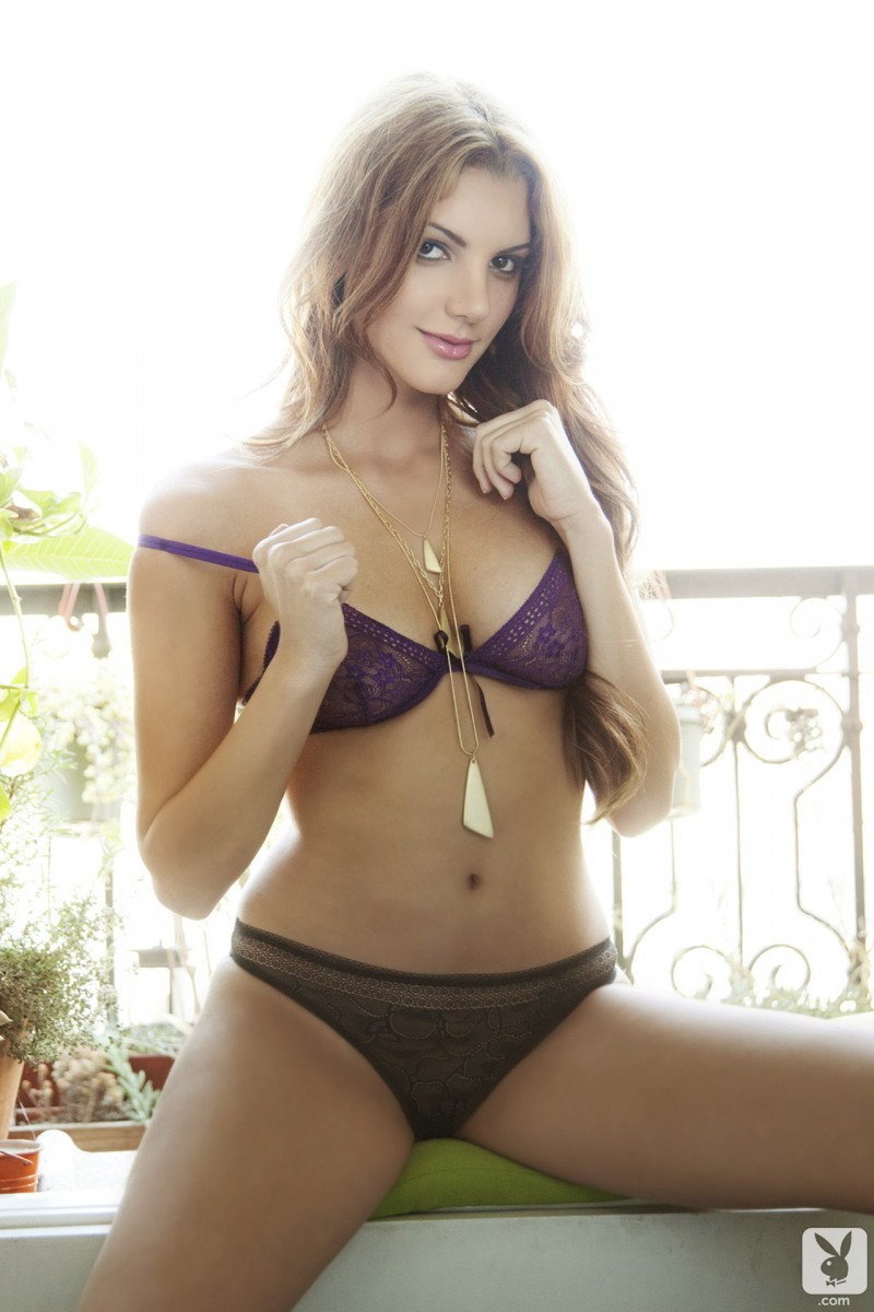 Adrianna Adams in lingerie
