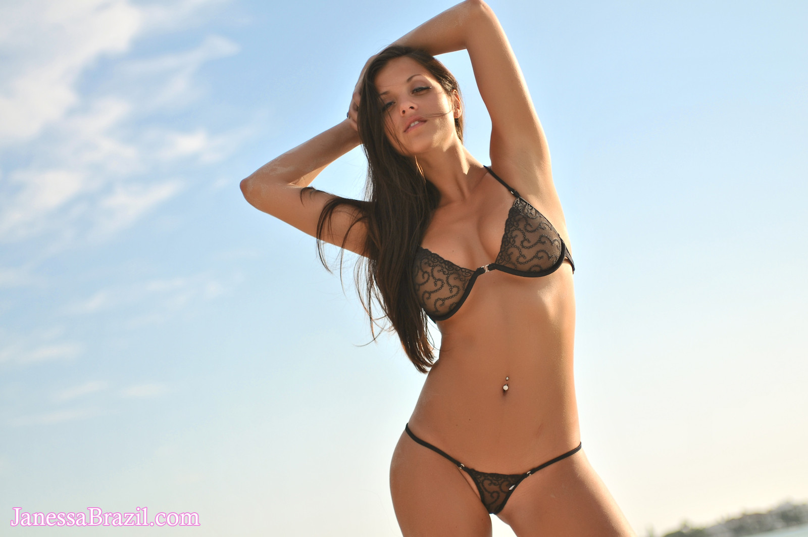Janessa Brazil in a bikini